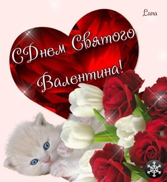 Прикольный поздравления с днем.святого валентина